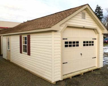 12 x 24 Cape Cod Garage - Vinyl w/ Loft