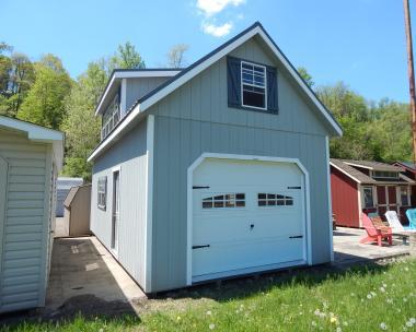 14x28 Two-Story Garage, Storage, One car, Hobby